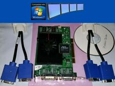 Matrox G450 128MB MMS Quad VGA Desktop Windows7 PCI Video Card + Driver & Cables