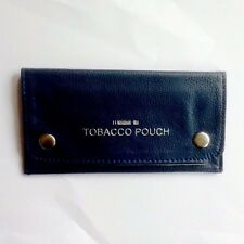 Blue Leather Tobacco / Tobacciana / Smoking Pouch Wallet