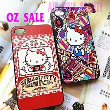 1PC Apple Iphone 5 5S Hello Kitty Red Print Cute Chic Case Cover Protector