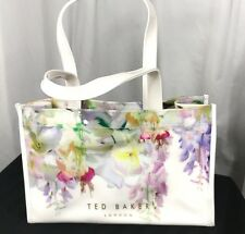 Ted Baker White Floral Print Tote Bag