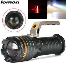 LOMON 10000LM CREE T6 LED Flashlight Outdoor Light Searchlight Lamp + 3x Battery