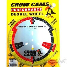 "CROW CAMS CAMSHAFT DEGREE WHEEL 11""/28cm DIAMETER FOR DIALLING IN CAM"