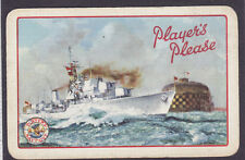 Player's Please Navy Ship Cigarette Advertising Single Playing Card