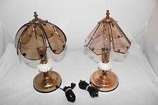 Vintage Desk / Table 3 Way Touch Lamps With Porcelain