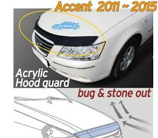 Acrylic Bonnet Hood Guard Garnish Deflector D-656 for Hyundai ACCENT 2011 ~ 2016