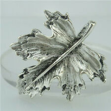 15053 7PCS Alloy Antique Silver Vintage Nice Plant Maple Leaf Pendant Charm