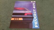 1989 PEUGEOT 405 GLx4 405 GL x4 4WD SALOON - UK BROCHURE