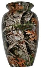 Woodland Camouflage Adult Funeral Cremation Urn, 210 Cubic Inches
