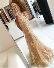 Mermaid Lace Long Formal Evening Dress Celebrity Pageant Wedding Party Prom Gown