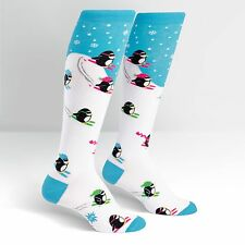 Sock It To Me Women's Knee High Socks - Downhill Penguins