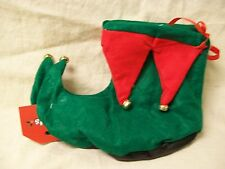 Red & Green Elf Boots Shoes Covers Jingle Bells Santas Helper Christmas Slippers