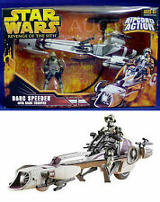 NEW - Star Wars BARC SPEEDER Vehicle & TROOPER Figure RIPCORD ACTION - ROTS 2005