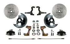 GM AFX Body Front Disc Brake Conversion Kit | Cross Drill Rotors & Braided Hoses