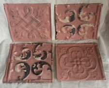 "4 6"" x 6""  Antique Tin Ceiling Tiles *SEE OUR SALVAGE VIDEOS*By34 Pink"