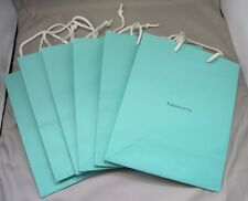 """Lot of 6 Authentic Tiffany & Co Blue Med Sz Paper Shopping Gift Bags 8"""" x 9 3/4"""""""