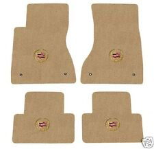 Cadillac CTS Floor Mat Set with Cadillac Crest Logo on all 4 Tan (2003-2007)