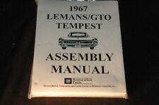 1967 GTO/LEMANS/TEMPEST ASSEMBLY MANUAL 100'S OF PAGES OF PICTURES, PART NUMBERS