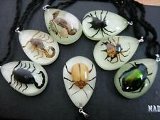 8pcs sea dragon scorpion carb angle spider ant spider light night mini pendants
