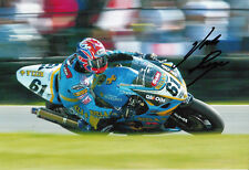 John Reynolds Hand Signed Rizla Suzuki Photo 12x8 3.