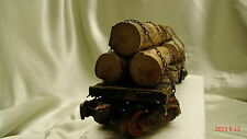 4-Logging Car - custom built, weathered and painted - from historic picture - O