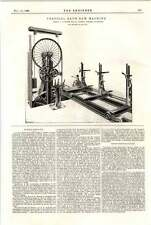1898 Horizontal Bandsaw Machine 2 Ransome Chelsea Cottrell Pneumatic Tyre