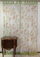 "French Country Shabby Chic Voile Curtain 110cm 43""wide x 220cm 86""long Tab Top"