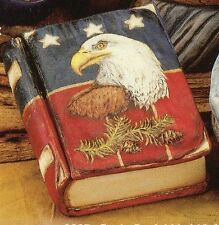~Creative Paradise Ceramic Bisque Eagle Book Box Ready to Paint~