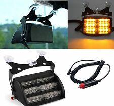 VEHICLE CAR VAN 3 Mode LED DASHBOARD GRILL FLASHING LIGHTS AMBER STROBE RECOVERY