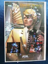 David Bowie Serious Moonlight HBO AD 1984 Billboard Magazine page Poster Vintage