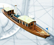 MODEL BOAT PLANS THAMES STEAM LAUNCH FULL SIZE PRINTED PLANS & BUILDING NOTES