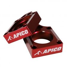 Apico REAR AXLE BLOCKS HONDA CR125/250 02-07 CRF250R 04-16 CRF450R 02-16 RED