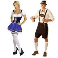 German Oktoberfest Men Bavarian Lederhosen Beer Girl Costume Plus Size S-XXXL