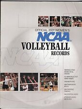 2001 OFFICIAL NCAA WOMEN'S VOLLEYBALL RECORDS BOOK