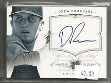 2012 National Treasures Baseball Drew Pomeranz Rated Rookie Auto Card # 7/10