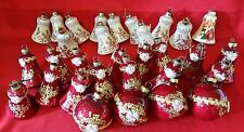 GROUP 31 VINTAGE COLLECTIBLE Mercury Glass Christmas Ornaments