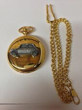 Mini City ref152 pewter effect car on a Gold Quartz Pocket Watch