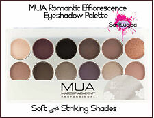 MUA MAKEUP ACADEMY EYESHADOW PALETTE ROMANTIC EFFLORESCENCE SMOKEY EYE NAKED
