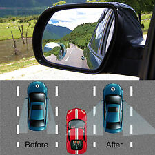 2PCS Clear Car Rear View Mirror 360° Rotating Wide Angle Blind Spot Mirror Auto