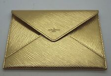 LOUIS VUITTON Metallic Gold Textured Leather Epi Envelope Pouch Clutch *VIP Gift