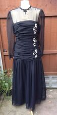John Charles Black Party Evening Dress size 16