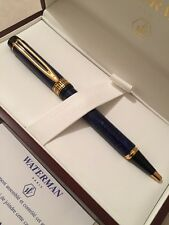 WATERMAN LE MAN 100 PATRICIAN SAPPHIRE BLUE BALLPOINT PEN-FRANCE-BOXED-NOS