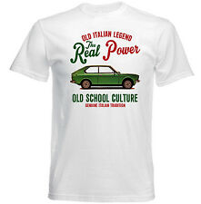 VINTAGE ITALIAN CAR FIAT 128 COUPE 1 - NEW COTTON T-SHIRT