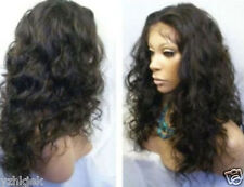 New Short Dark Brown Mix Curly Women Wig+free gift
