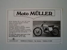 advertising Pubblicità 1971 MOTO MULLER 250 CROSS
