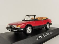 Saab 900 Turbo 16 Cabriolet 1992 ROT 1/43 Norev 810042 Convertible Cabrio Red