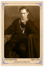 Acting Legend John Barrymore 1922 Photograph A++ Reprint Cabinet Card CDV