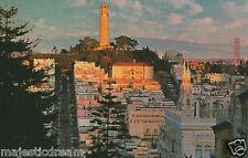 "San Francisco Postcard - ""Historic Telegraph Hill"" | Mirro-Krome/HS Crocker"