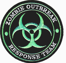 """ZOMBIE OUTBREAK RESPONSE TEAM""-IRON ON PATCH-BIOHAZARD-US TACTICAL-SWAT-COMBAT"