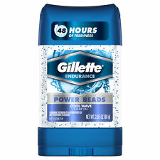Gillette Power Beads Antiperspirants Deo Gel Wave 2.85oz
