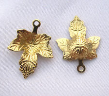 Maple Leaf Charm Brass Filigree Findings for Bracelet Necklace bf212 (30pcs)